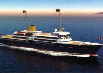 Handout image issued by 10 Downing Street showing an artist's impression of a new national flagship, the successor to the Royal Yacht Britannia, which Prime Minister Boris Johnson has said will promote British trade and industry around the world. Issue date: Saturday May 29, 2021.