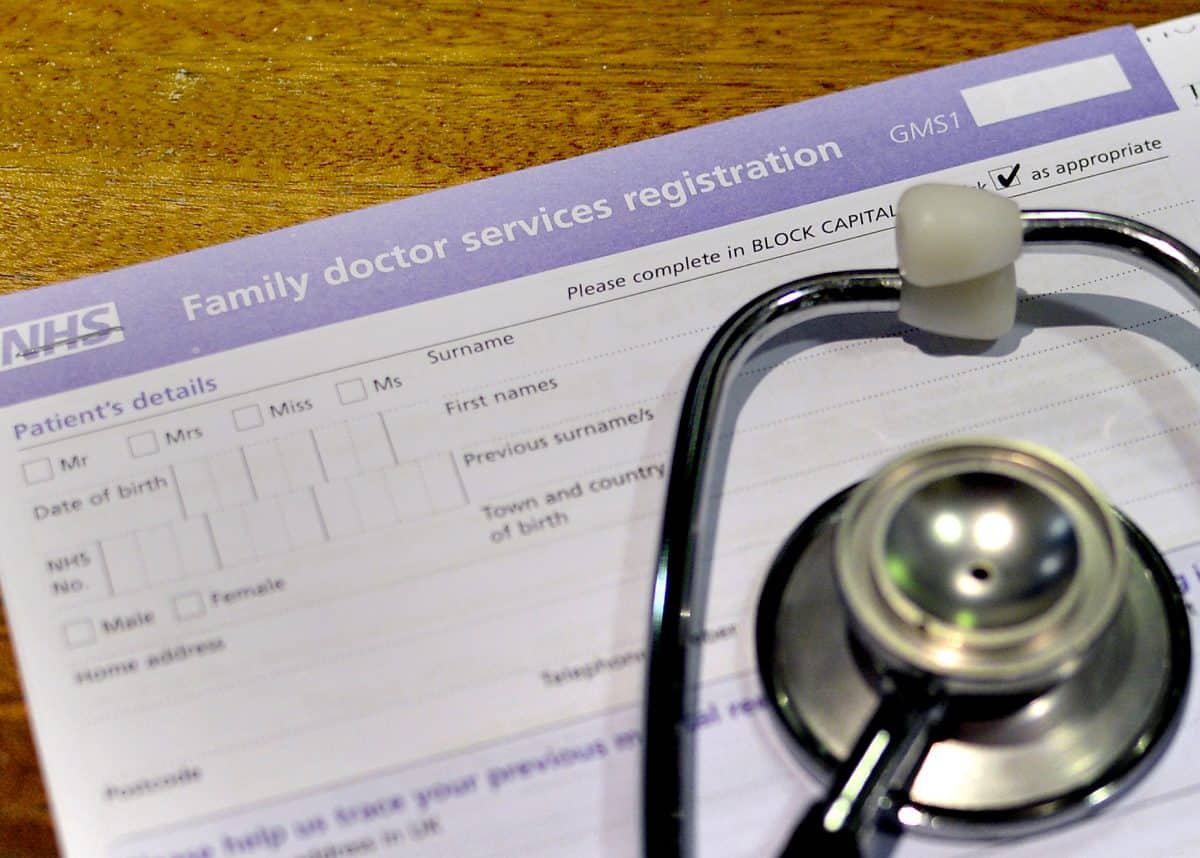 File photo dated 10/09/14 of a registration form and a stethoscope. Nearly half of family doctors surveyed by a medical body said they are tempted to quit working as general practitioners (GPs) due to the impact of the pandemic. Issue date: Monday February 1, 2021.