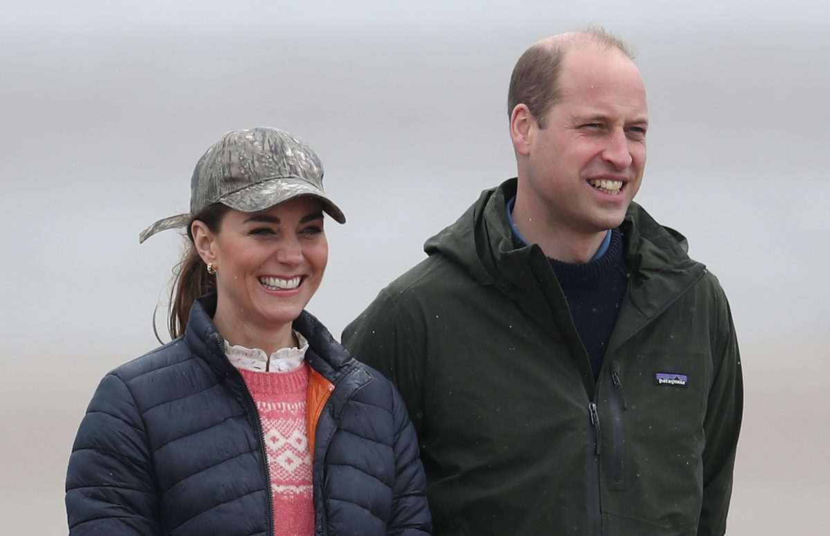 The Duke and Duchess of Cambridge after land yachting on the beach at St Andrews. Picture date: Wednesday May 26, 2021.