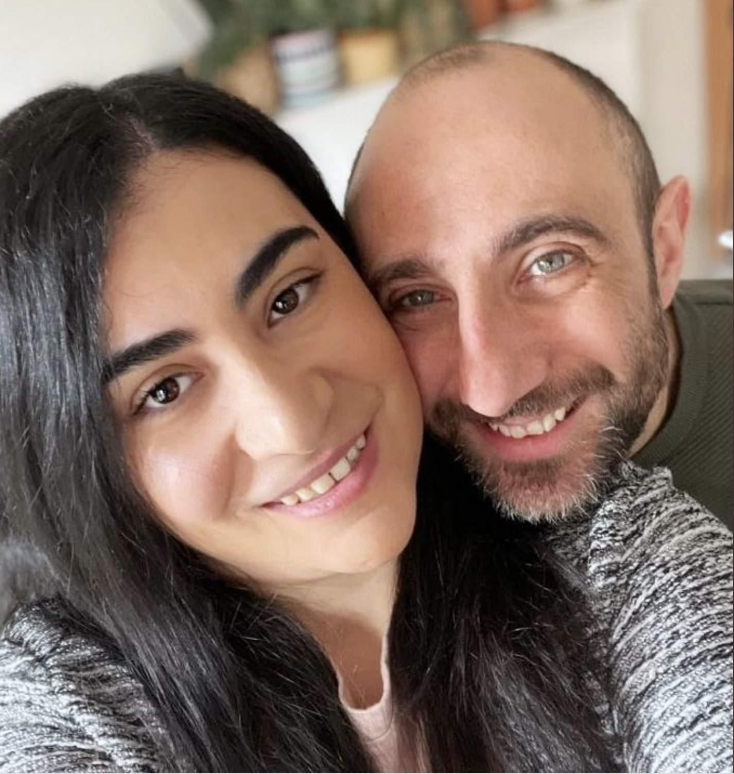 Nicoletta Peddis and her partner, Cristian Vinci