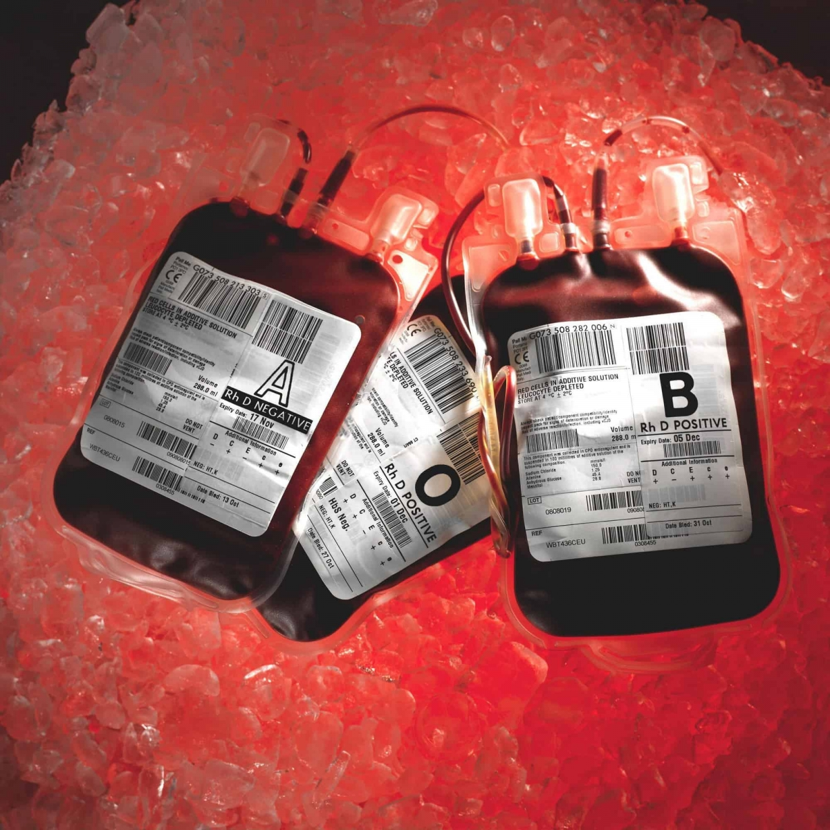 Undated NHS Blood and Transplant handout photo of blood bags as the number of regular blood donors has fallen by almost a quarter in the last decade, health officials said.