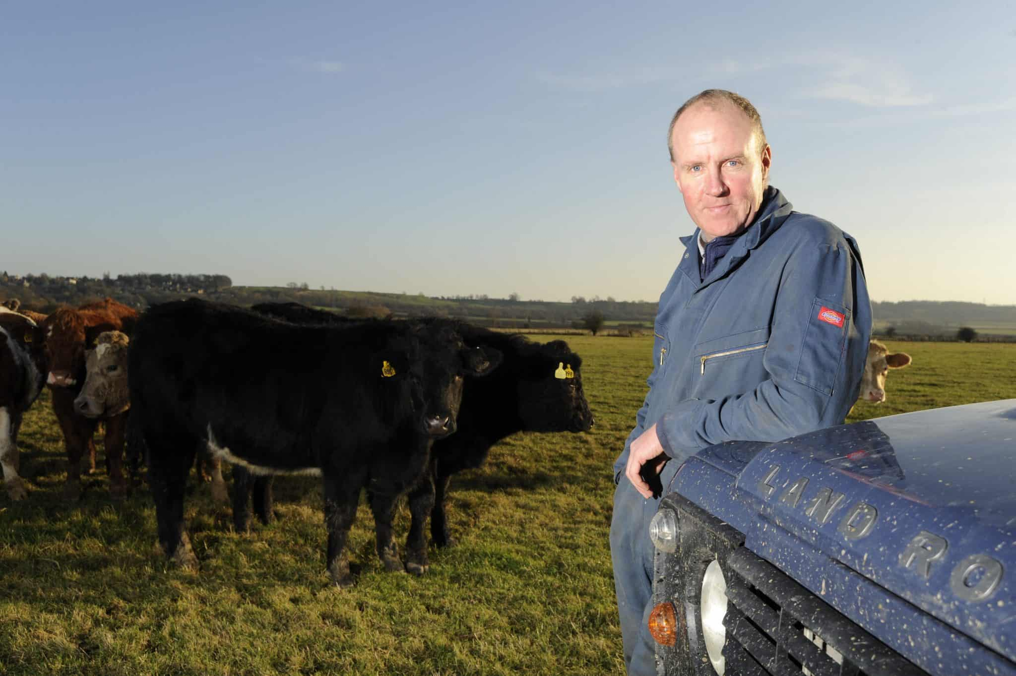 Andrew Brown, who farms grains in Rutland, East Midlands