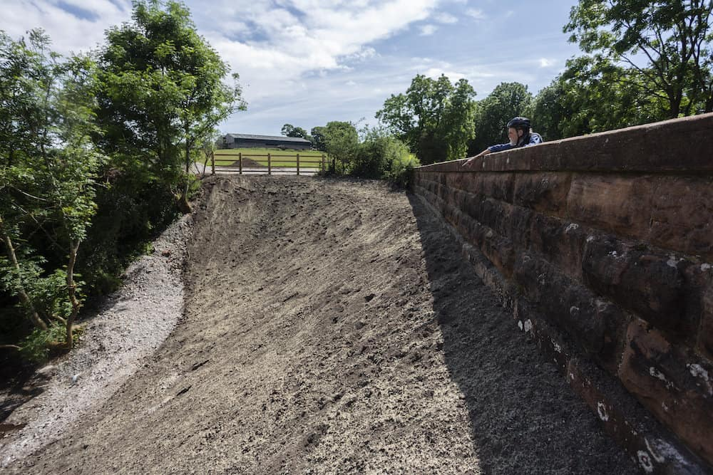 159 year old Great Musgrave bridge, Cumbria which has been infilled with stone by Highways England Credit;SWNS