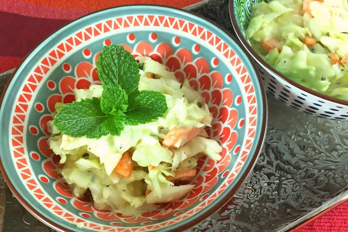 An Authentic Turkish Cabbage Salad