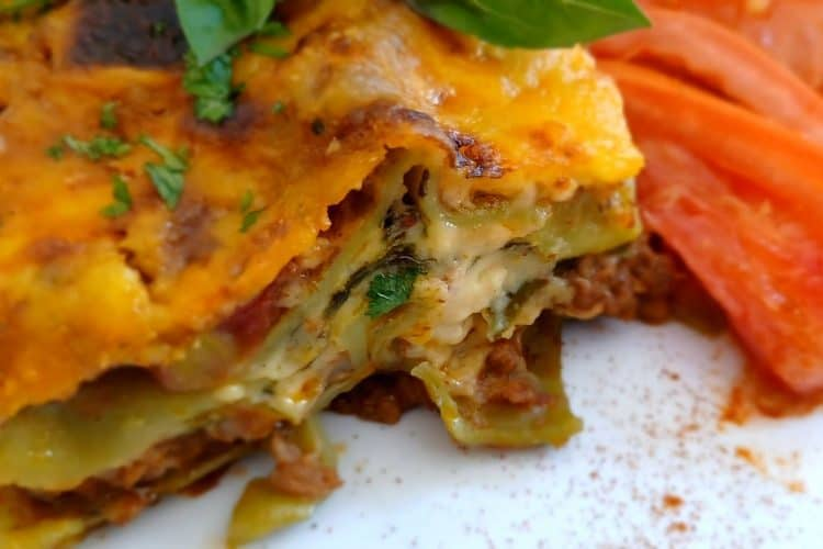 Lasagne With Mince And Spinach