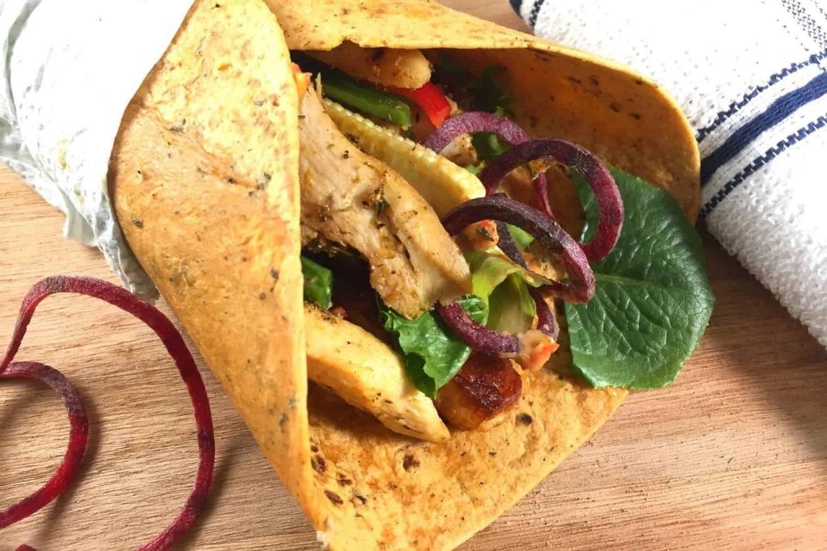 Mexican Chicken Burritos with Halloumi Cheese