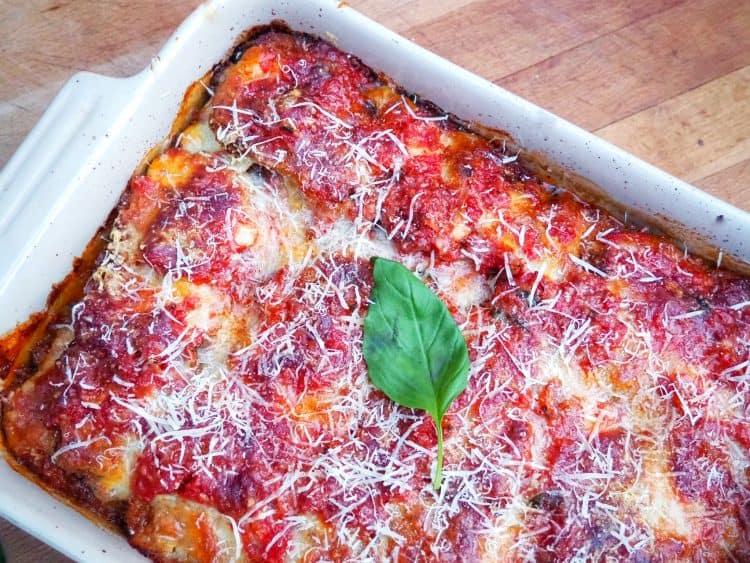 Aubergine Parmigiana Melanzane Alla Parmigiana Eggplant Parmigiana Parm