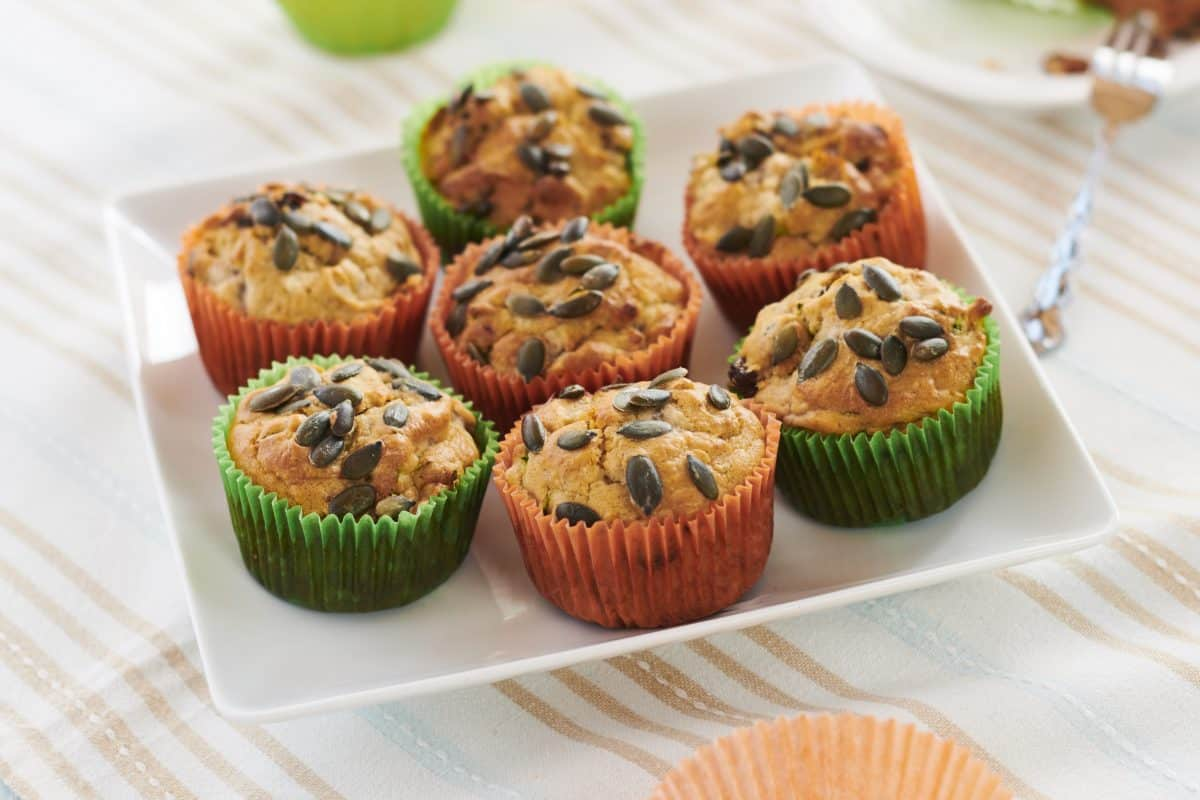 Macmillan Coffee Morning carrot and courgette Muffins