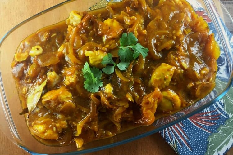 Fish Curry baked in Oven