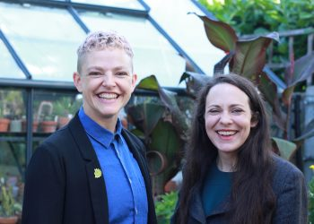 Green Party leadership candidates Amelia Womack (R) and Tamsin Omond. Image: Rob DesRoches