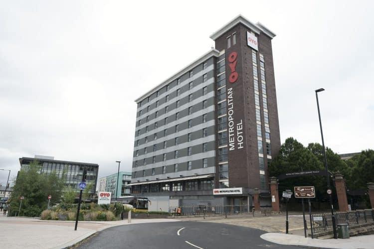A view of the OYO Metropolitan Hotel in Blonk Street, Sheffield. Credit;PA