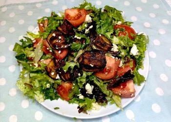 Roasted Eggplant (Aubergine) Salad with Fetta