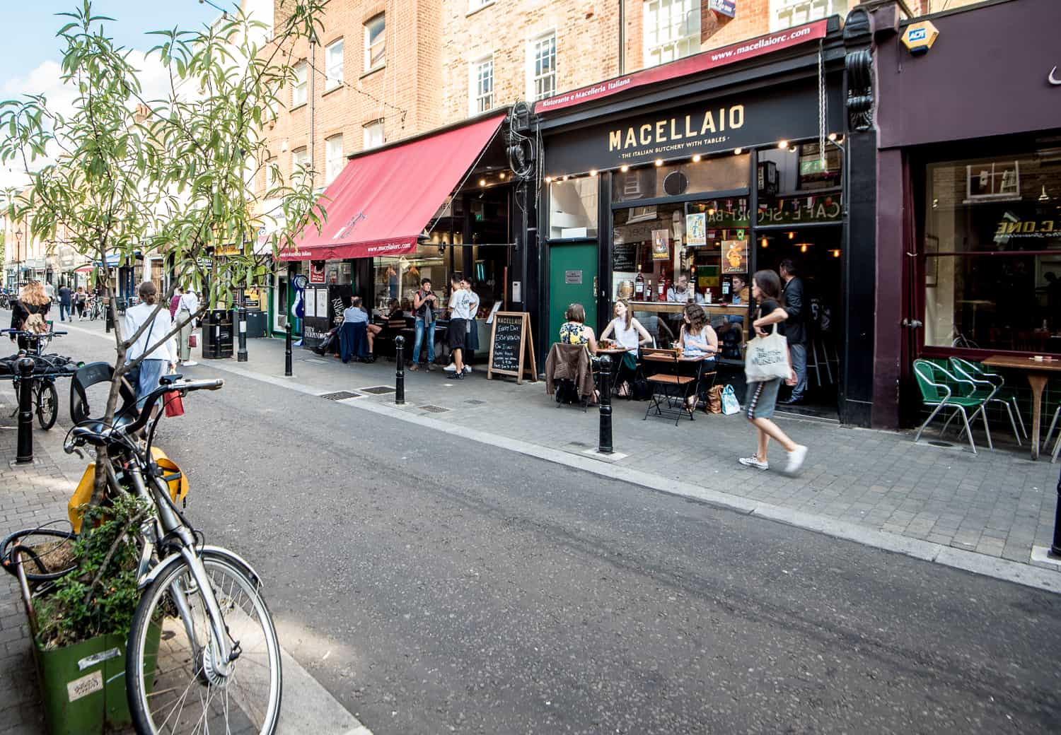 Guests outside Macellaio RC Exmouth Market 3