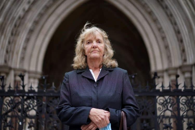 Joy Dove, the mother of housebound disabled woman Jodey Whiting, who killed herself after her benefits were cut, who is to find out whether she has won her High Court bid for a fresh inquest into her daughter's death (PA)