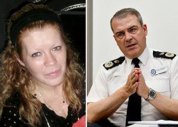 -Suzanne Van Hagen & Chief Constable Dave Thompson. Credit;SWNS