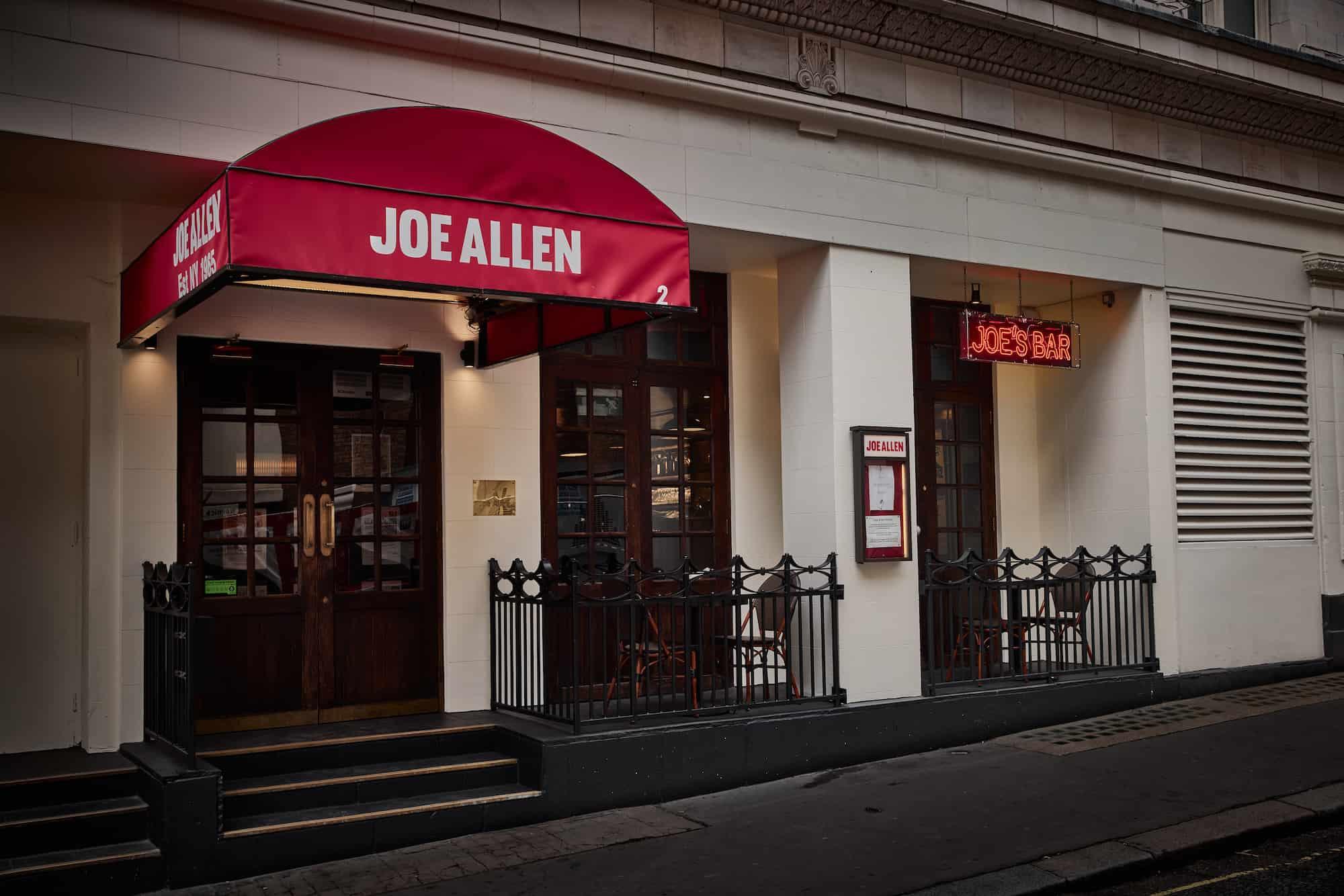 Joe Allen New restaurant openings October 2021