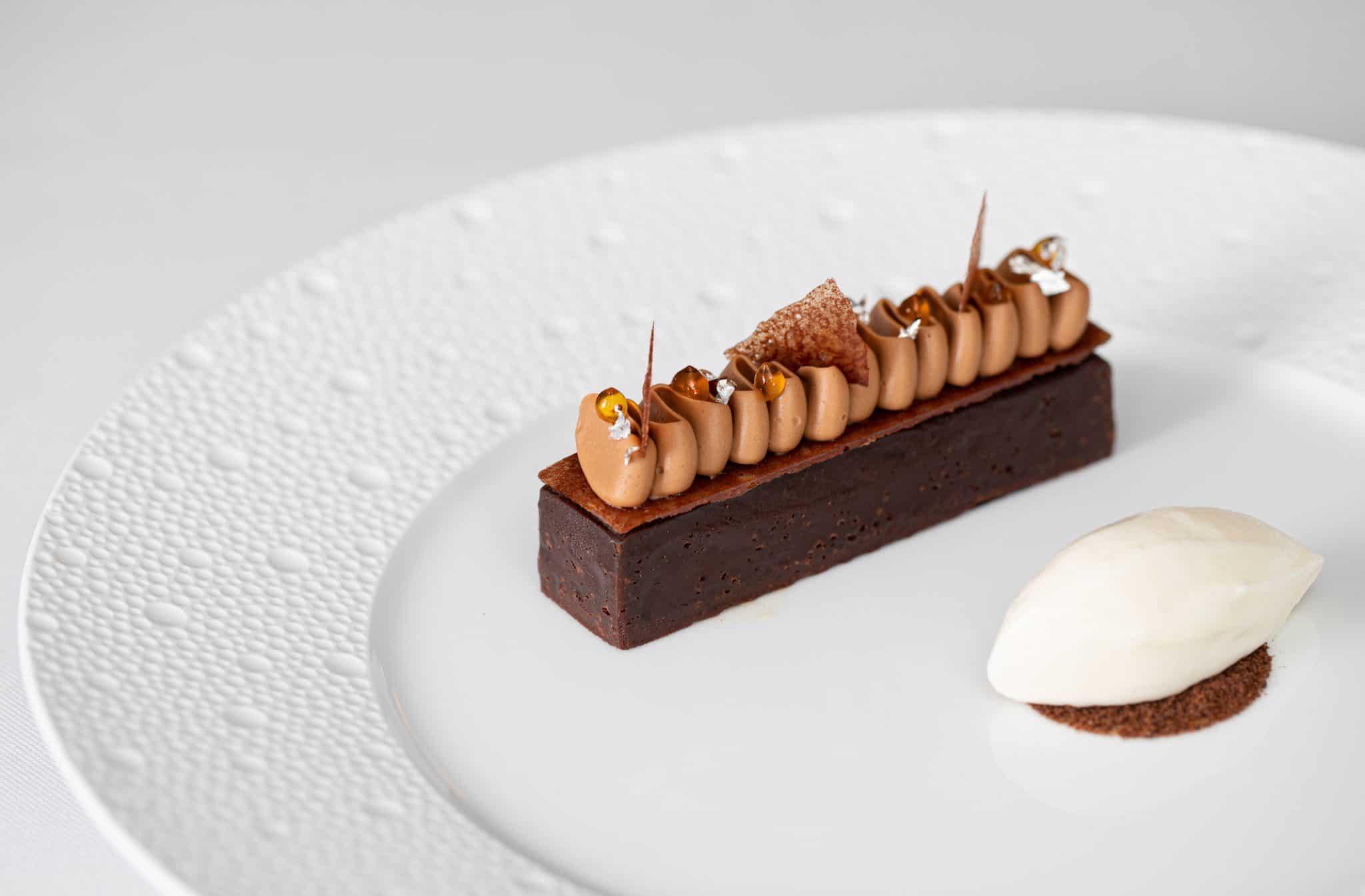 Ormer Mayfair by Sofian chocolate tart