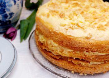 Vanilla Custard Decadent Cake.