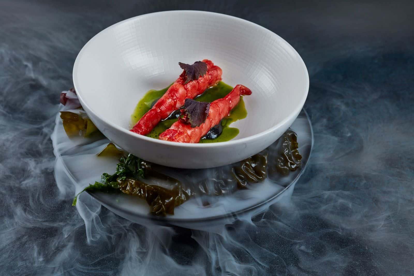 M Restaurants red prawns