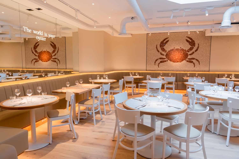 The Seafood Bar London Soho interior