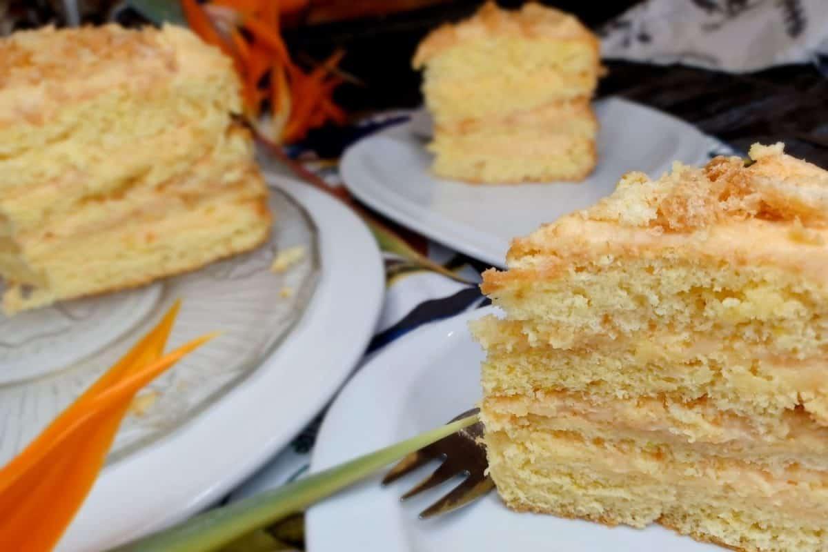 Vanilla Custard Decadent Cake