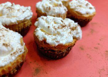 Pumpkin Cheesecake Cupcakes.