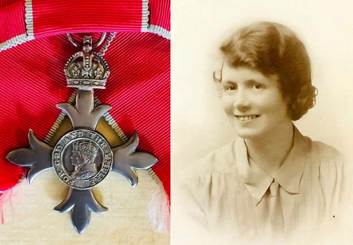 Annie Elizabeth Thornley and her MBE.  Credit;SWNS
