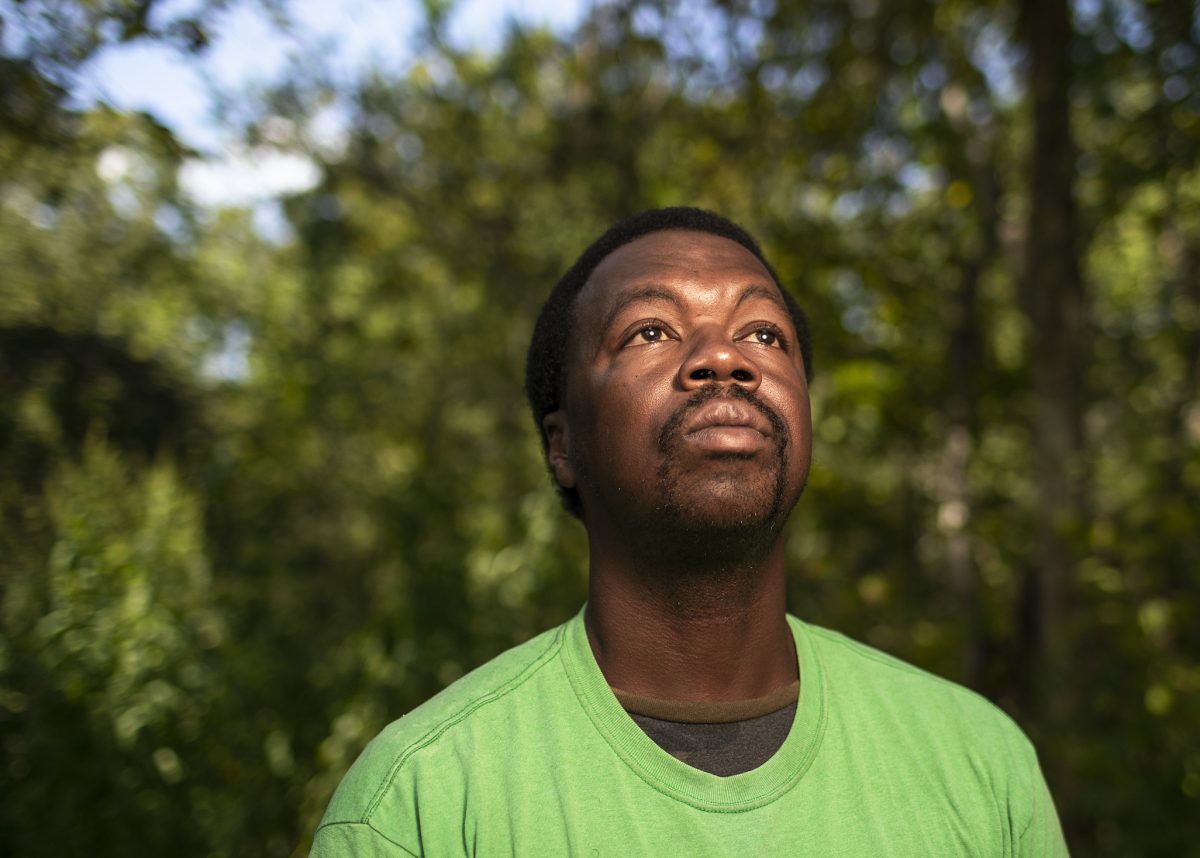 Donald Neely poses for a photo in Houston. Neely, who was led by a rope by two white officers on horseback has sued the city of Galveston, Texas, and its police department for $1 million, saying he suffered humiliation and fear during his arrest. (Marie D. De Jesus/Houston Chronicle via AP, File)